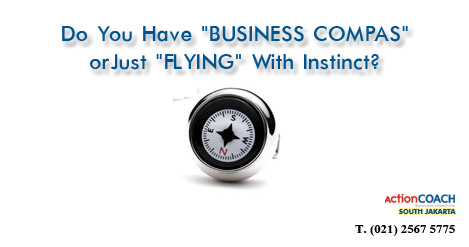 DO YOU HAVE BUSINESS COMPAS OR JUST FLYING WITH INSTINCT