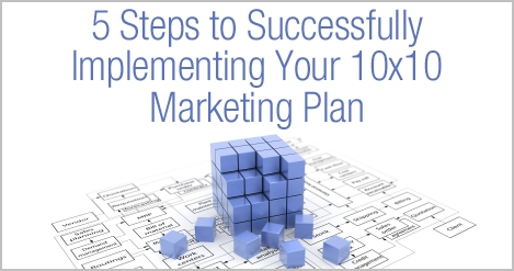 5 Steps to Successful Implementing Your 10x10 Marketing Plan